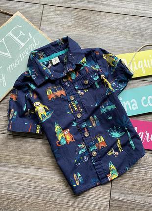 Рубашка с принтами tu 9-12мес