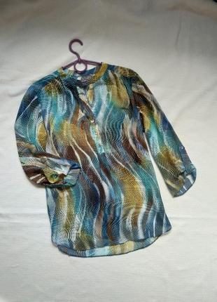 Шифоновая блузка блузка рубашка с рукавом пляжная туника