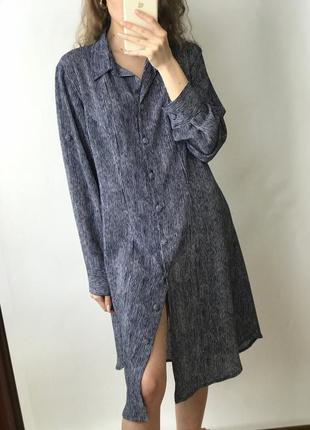 Платье миди длинное рубашка прямое оверсайз пуговицах винтаж р...