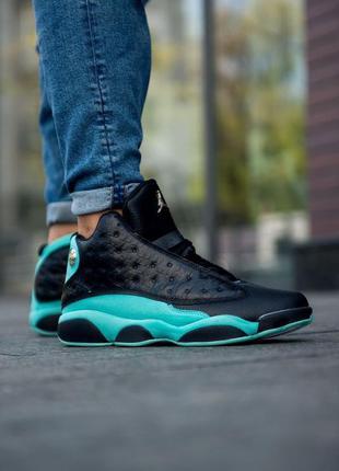 Nike air jordan 13 retro island green мужские кроссовки наложе...