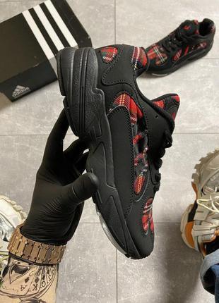 Кроссовки мужские adidas yung 1 black x burberry