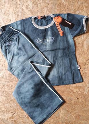 Костюм, спортивные штаны/брюки и футболка centenarium fitness(...
