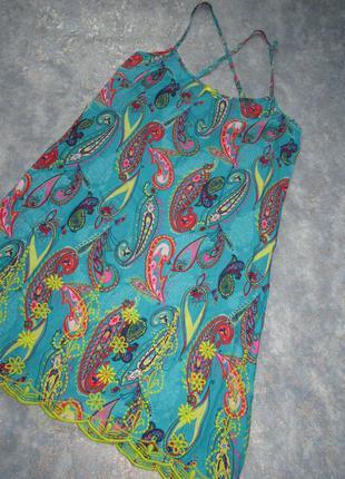 Ночная сорочка ночнушка пеньюар с вышивками р.10 м от tu. лучш...