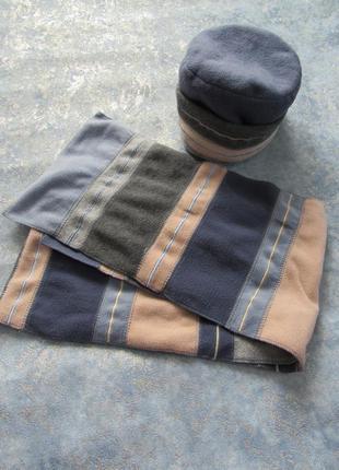 Комплект шапка термо из флиса+шарф. лучшая цена!