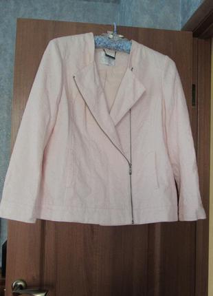 Натуральный пудровый пиджак жакет john rocha debenhams р.18 3x...
