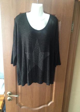 Тонкий полувер джемпер свитер