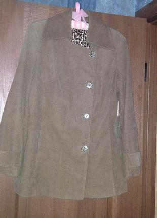 Трендовое вельветовое пальто m&s marks&spencer р. 14 xl