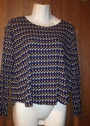 Укороченный топ блуза блузка h&m р.10