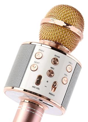 Беспроводной микрофон для караоке Wster WS-858  колонка