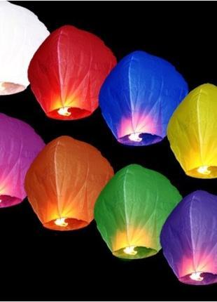 Небесные фонарики разных цветов и форм!