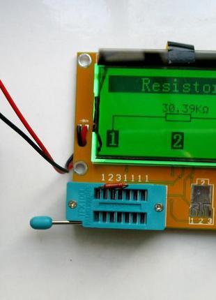 Транзистор тестер mega 328 вимірювач ESR, LCR, тестер напівпро...
