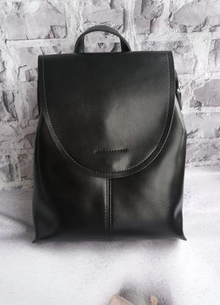 Кожаный женский рюкзак шкіряний портфель жіночий