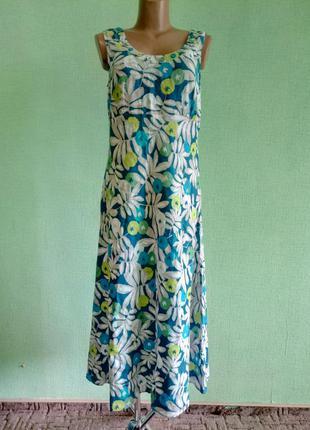 Платье льняное длинное george р.  46 - 48 .