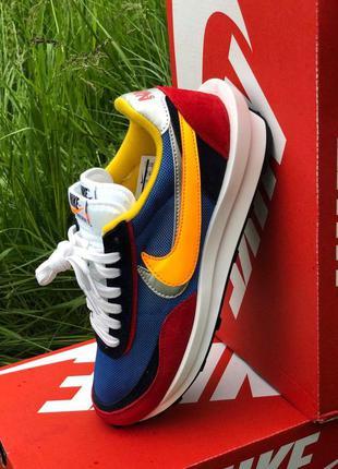 Nike ld waffle sacai мужские стильные кроссовки