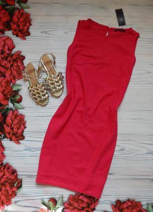 🌿натуральное льняное малиновое платье от marks&spencer. размер...