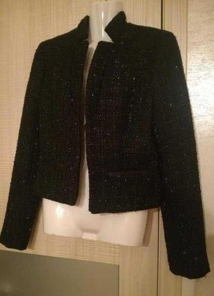 Актуальный базовый пиджак,жакет блайзер,твидовый пиджак без за...