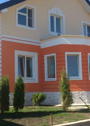 Утепление домов по системе мокрый фасад.