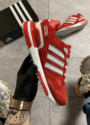 👟 кроссовки мужские  adidas zx 750 red/whtie /  наложенный пла...