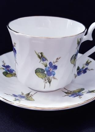 Кофейная чашечка на блюдце Delfesta England