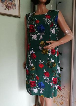 Летнее вискозное платье батал от dorothy perkins
