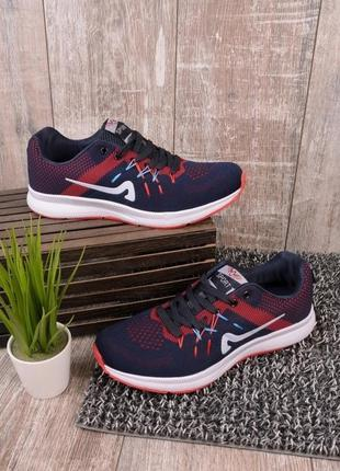 Мужские кроссовки синий с красным