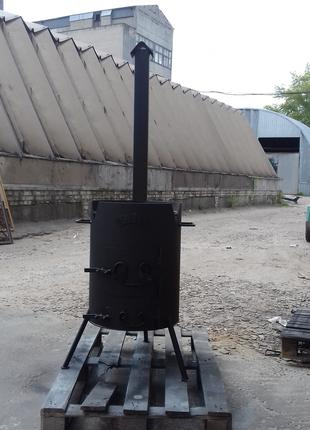 Печь мангал под казанок. Казан.