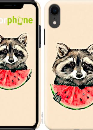 "Чехол ""Енотик с арбузом"" для iPhone XR"