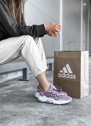 Кроссовки adidas ozweego purple адидас сиреневые пурпурные