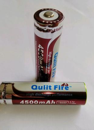 Аккумулятор Qulit Fire 18650  3.7v 4500mAhАккумулятор Qulit Fire