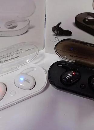 Беспроводные Bluetooth наушники JBL TWS-4, блютуз гарнитура с зар