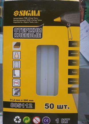 Стержни клеевые Ø 11.2*200 мм прозрачные Sigma упаковка 1кг