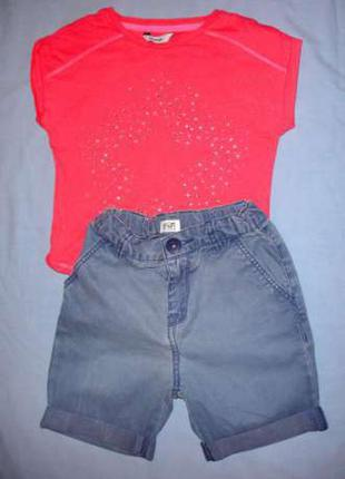 Шорты для девочки на рост 110-116 см 5-6 лет джинсовые коротки...
