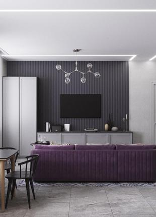 Дизайнерский ремонт квартир. Дизайн интерьера
