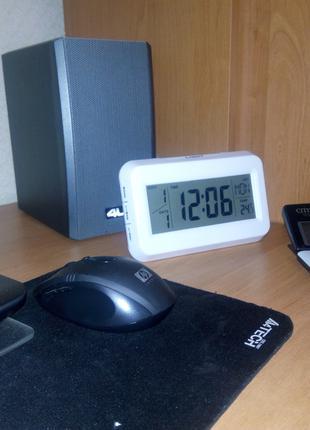 Настольные часы kenko kk-2616 с подсветкой, будильник, календарь