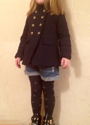 Sale пальто шинель zara синее, хаки  4-8 лет в наличии
