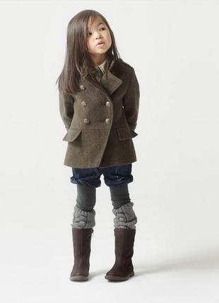 Sale пальто шинель zara синее, хаки, примерно, от 3-7 лет в на...