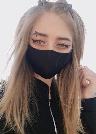 Защитная маска для лица неопрен черный мелкий опт