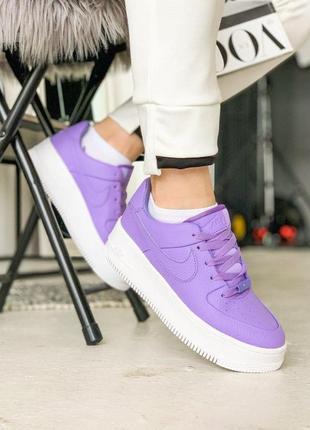 Женские кроссовки nike air force sage найк цвет фиолетовый кожа