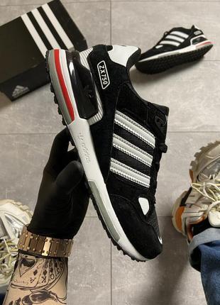 Adidas zx 750 black/white мужские кроссовки