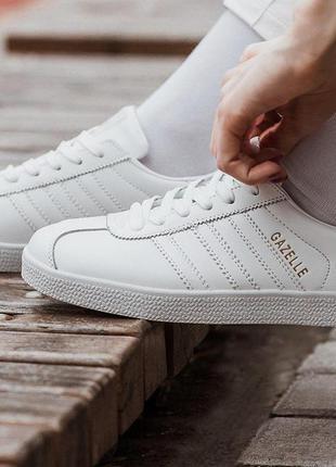 Кроссовки  adidas gazelle white 🌶