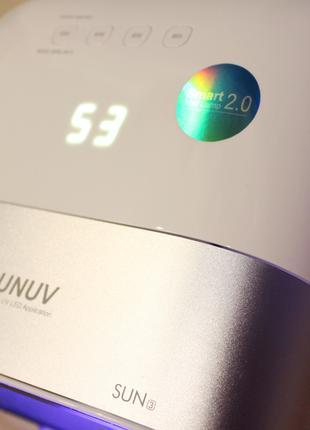 Sunuv3 48Вт Smart nail lamp 2.0 Sun3 гибридная уф лампа лед сушка
