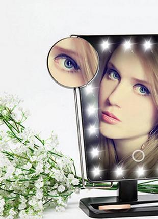 Зеркало настольное с подсветкой Large Led Mirror ЧЕРНОЕ