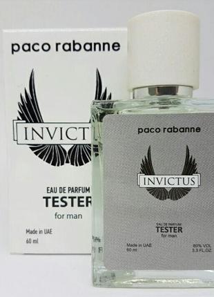 Тестер стойкий paco rabanne invictus 60 мл мужской парфюм пако...
