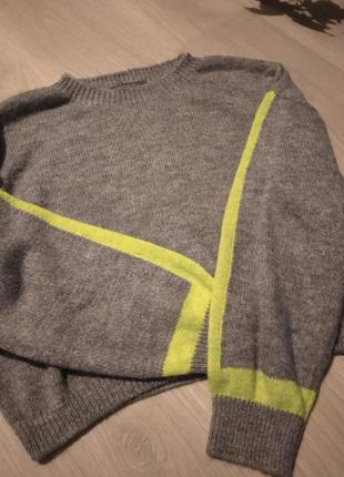 Брендовый укороченный свитер primark
