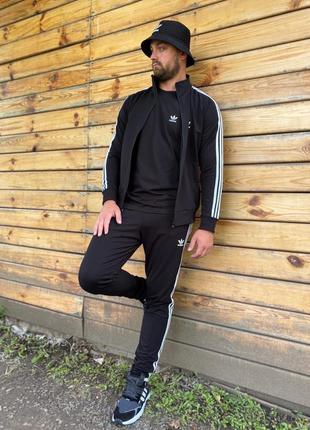 👕мужской спортивный костюм adidas black👕