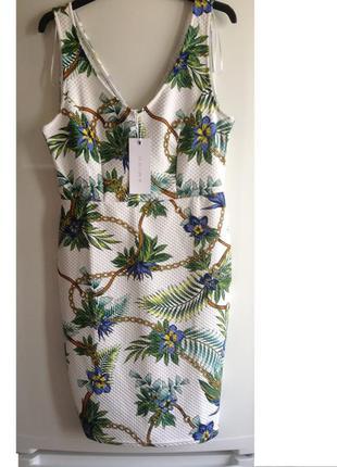 Sale фактурное платье с цепочками zara amisu L XL