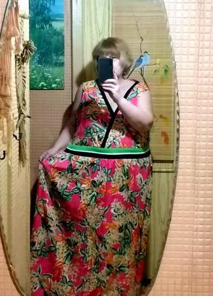 Летнее платье в пол очень большой размер от joe browns  64р и ...