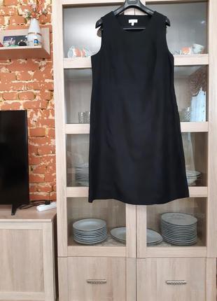 Очень классное вискозно-льняное платье большого размера