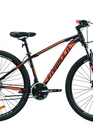 Велосипед 29″ Formula DRAGONFLY 2020 (черно-красный с оранжевым)