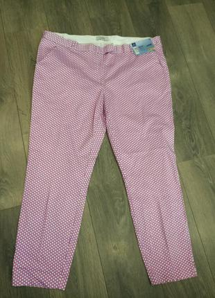 Шикарные летние брюки стрейч в горошек от tcm tchibo